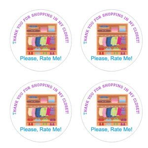 Other - Thank You Stickers Closet Shopping Label  Multicol